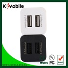 Dual function double USB Mini 5V 1A USB charger for smart phone , 2.1A wall charger