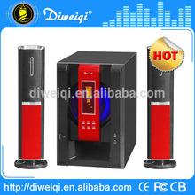 10 inch design 2.1 portable multimedia fm radio usb speakers