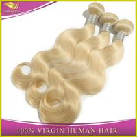 Qingdao goldleaf hair reliable supplier Fashion 14/16/18 european blonde virgin remy hair free shipping