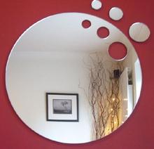 Custom shape wall mirror sticker wholesale
