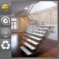 الفولاذ المقاوم للصدأ تصميم الدرج، شرفة درابزين الزجاجلبيت