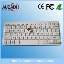 Hot Sale 78 Keys Mini 2.4 Ghz Keyboard White
