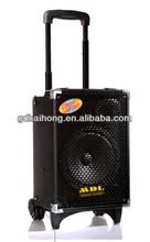 8 inch 60watt 4.5A battery USB SD wireless MIC microphone remote control battery powered audio mixer