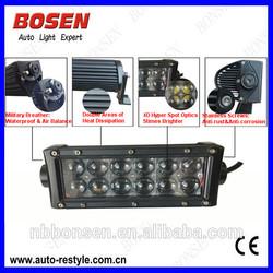hot sale18W double row Osram 4D hper spot optics LED light bar super bright