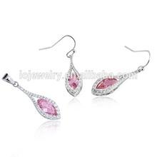 Fashion jewelry set ruby bridal jewelry set