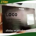Efeito UV fosco cut logo através matt cartão de crédito preto