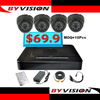 Best Seller and Cheap cost DVR Kit CCTV Security Camera Systems, 4CH DVR System with 600TVL IR Dome Camera Indoor
