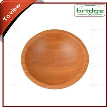Natural round home kitchen bamboo bowl