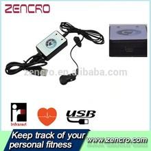 Portable Electronics Pulse Sensor Heart Rate Monitor Infrared USB Finger/Ear Clip Heart Rate Monitor