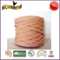 Wholesale elastic yarn zpagetti yarn 100% polyester t shirt yarn