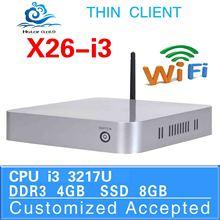 new arrival 1080P Slim desktop computer x26-i3 fan desktopi3 3217u network mini industrial pc 4g ram 8g ssd support usb flash