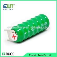 1.2V, 2.4V, 3.6V 40mAh, 70mAh, 160mAh NI-MH button cell