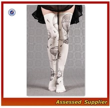 Custom Fashion Design Thigh High Socks/Women Sexy Printed Thigh High Socks Shell-T88