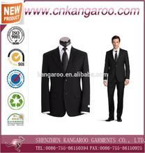 Design uniforme escritório ternos feitos sob encomenda para homens