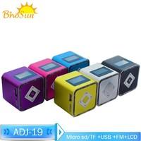 Mini portable stereo radio TF/USB speakers old man child walkman music speakers