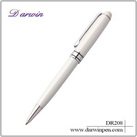 High quality white pen body metal ball pen,metal ballpoint pen