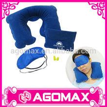 Custom made classic gift colorful airline eyemask pillow travel kit