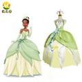 prenses ve kurbağa tiana Cosplay tiana prenses kostümleri kızlar Halloween tatlı elbise bayan seks parti elbise
