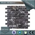 Striscia di vetro hs-m4422 naturale tessere di mosaico in pietra ardesia