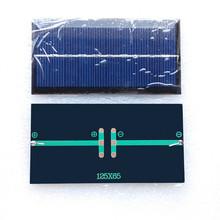 Mini solar panel for sale 5V 300mA 1.5W 125*65mm mini solar panel poly small solar panel,small modules for LED light