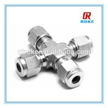 """Nantong Roke SS316 Double Ferrule Cross OD1/8"""" Tube Fitting"""