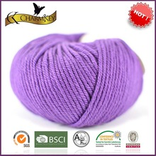 Fresh purple natural warm thick wool yarn for baby knitwear