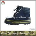 Botines con cordones de goma de la lona del ejército zapatos