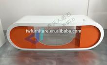 Orange Artificial Stone Google Desk/Office Workstation