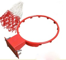 Solid steel breakaway basketball rim