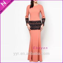 latest lace detail baju muslim abaya