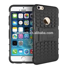 Detachable Hybrid Kickstand TPU+Hard PC Case For iPhone 6 plus