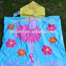 Cartoon design kids hooded beach towels