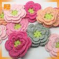 2014 nuovo design cina prodotto artigianali fatti a mano a buon mercato panno lavorato a maglia tessuto ortensie fiori feltro decorazione ingrosso