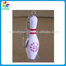 New Design Acrylic Plastic Ball Keychain Key Ring Bowling Keychain