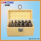 2014 HSS core drill set with wood box