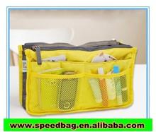 Yellow Multi-function bag Cosmetic bag polyester bag travel