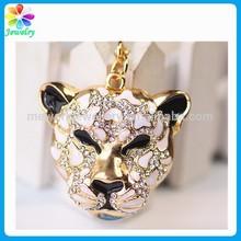 Animal shaped tiger leopard jaguar keychain wholesale jewelry america jaguar key ring