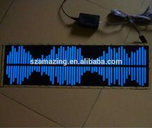 El equalizer sound active car sticker el sound control car sticker with DC12V inverter