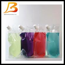 aluminum foil stand up spout pouch for alcohol and wine spout pouch