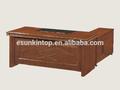 Ejecutivo escritorio de oficina de madera de chapa de tapicería, accesorios de oficina escritorio para la venta( un- 31)