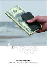 USA DOLLAR tyvek paper clutch wallet