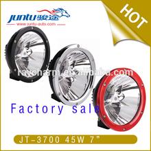 "7"" 4500lm 2.1A@12V 1.2A@24V 45W IP67 Off Road light led work light waterproof motorcycle light"