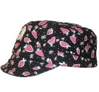 flat soft short brim with band fashion hat and cap elastic type at back