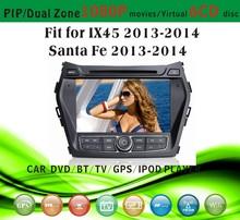 8 inch car dvd gps navigation fit for Hyundai IX45 Santa Fe 2013 - 2014 with radio bluetooth gps tv pip dual zone