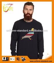 Wholesale Value Cotton Rib-knit collar and hem custom plain mens collar sweatshirt