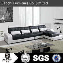 modern white leather sectional sofa.smart sofa bed. lifestyle sofa. P602