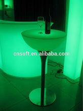 Top quality ETL CE glow fancy led bar table /led bar table