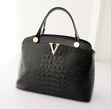 2015 New product Fake Crocodile leather Women shoulder bag