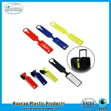 Cheap supply strip shape soft plastic luggage tag made in China
