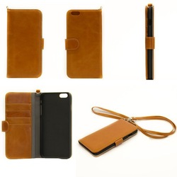 2014 New Arrival Fashion design Genuine Leather fitted phone case for 5.5 inch iPhon 6